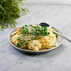 Mashed Potato with Peas & Chicken Jus