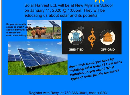 Solar Workshop in January