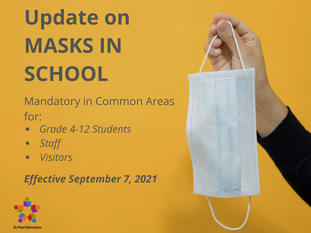 Important Update on Masks in School