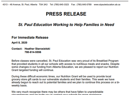Nutrition Press Release