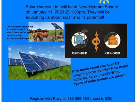 POSTPONED Solar Workshop in January