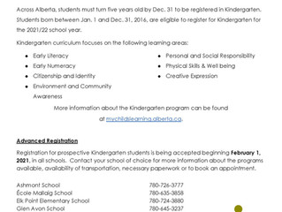 Kindergarten Registration 2021-2022