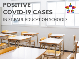 Positive COVID-19 Cases in St. Paul Education Schools