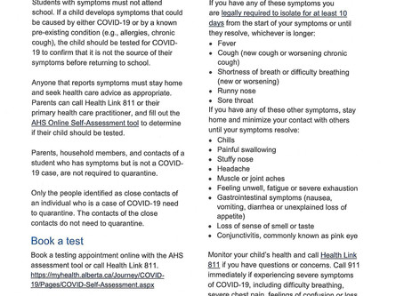 Student Illness Information