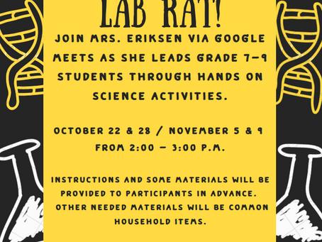 Lab Rats Grade 7-9