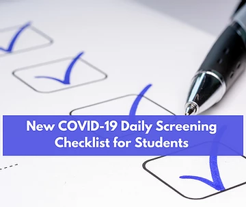 New COVID-19 Daily Screening Checklist for Students Update