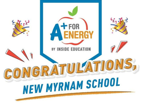 4th Year in a row New Myrnam School WINS A+ for Energy Grant