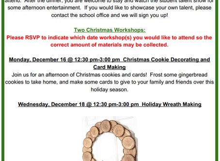 Exciting Workshops for December