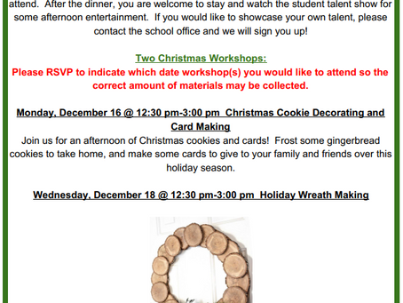 Exciting Workshops for December