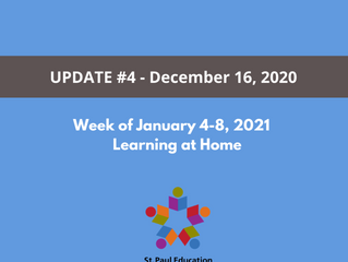 Update #4: Week of January 4-8, 2021 - Learning at Home
