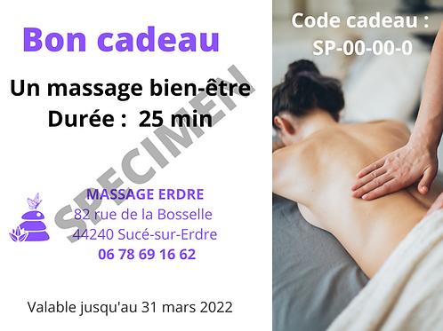 Massage de 25 min