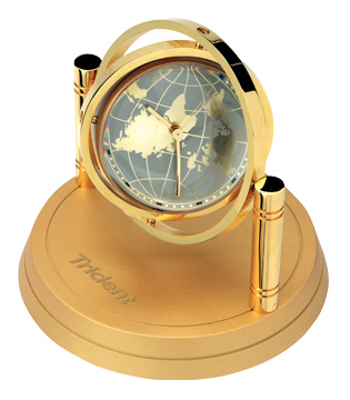 Gold Spinning clock