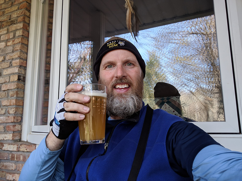 Pic of me having a beer and looking for a Red-headed Woodpecker