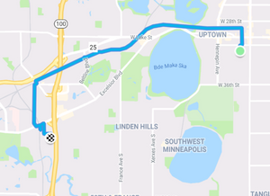 My bike route to beer brewing