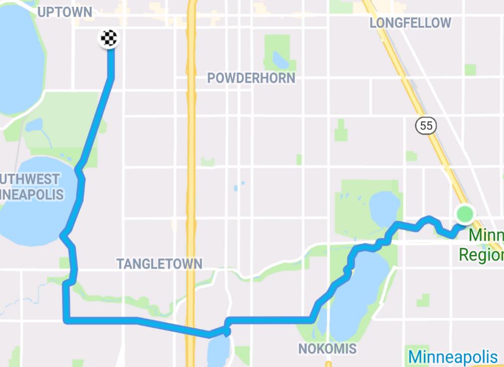 Route home via Diamond Lake and Roberts Bird Sancuary