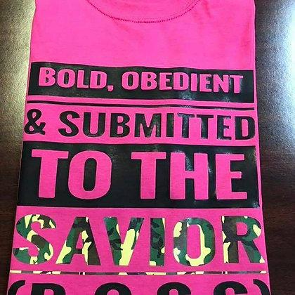 B.O.S.S Shirt: Hot pink, Black and Camo
