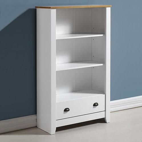 Ludlow Bookcase in White/Oak Lacquer