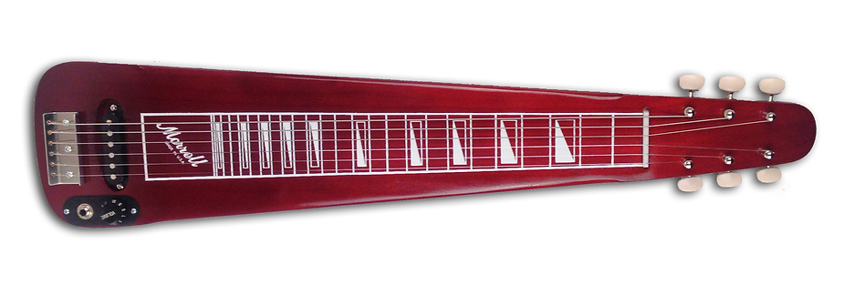 Morrell MLS Model Lap Steel Guitar with Wine Red finish.
