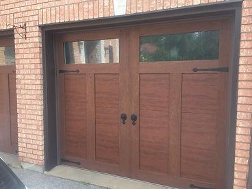 Walnut Canyon ridge 4 layer garage door in Guelph Ontario