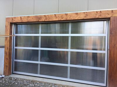 Clear Poly garage door installed in orangeville