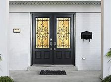 smooth fiberglass collection front door.