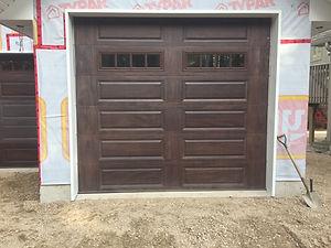 CHI Raised panel dark oak garage door.JP