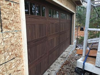 CHI Stamped carriage house garage door installed in Orangeville