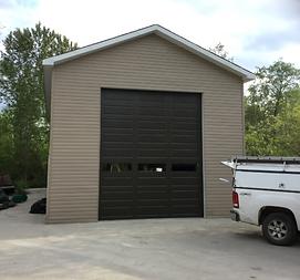 Premium clopay mocha brown garage door_w