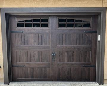 New CHI woodgrain garage door installed in Orangeville