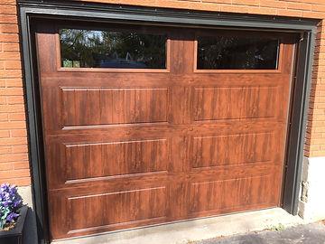 Walnut gallery clopay garage door in Guelph