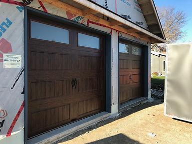 Clopay Walnut garage doors new installed in Orangeville