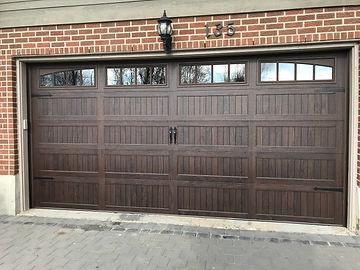 CHI Walnut garage door installed in Guelph