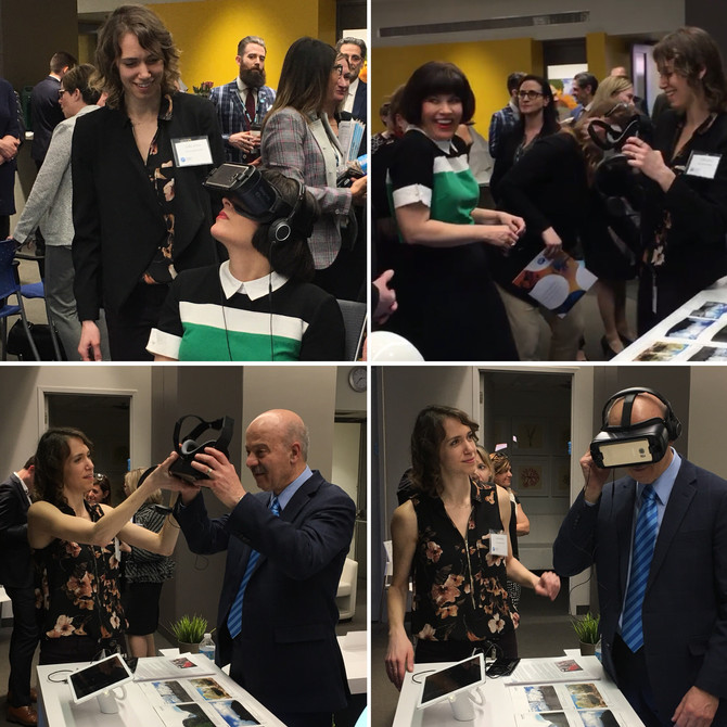 Federal Minister of Health and ON Minister of Research Innovation & Science try VRx!