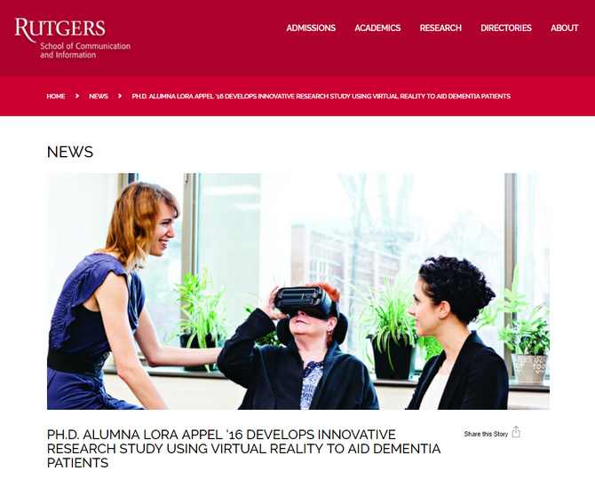 VRx featured in Rutgers News