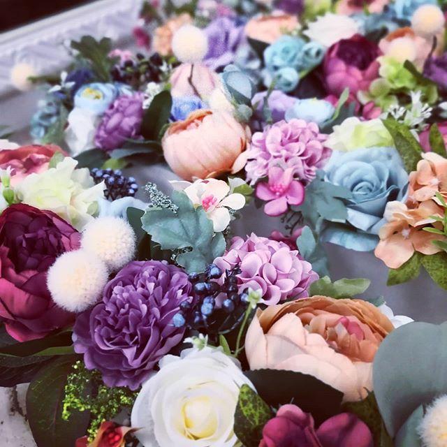 兩個小時完成五盆花,真的是體力大考驗啊!  #客制化  #人造花  #歐式花藝
