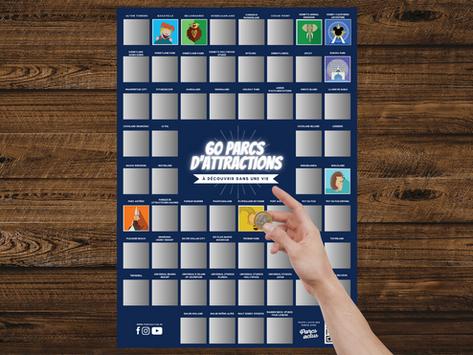 NOUVEAUTÉ : 60 parcs à découvrir dans sa vie - Le poster qui vous donne envie de voyager !