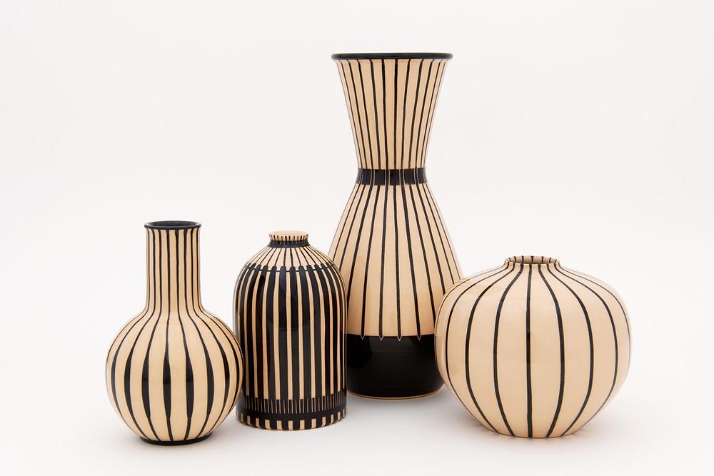 Faïence de Bauhaus Vases