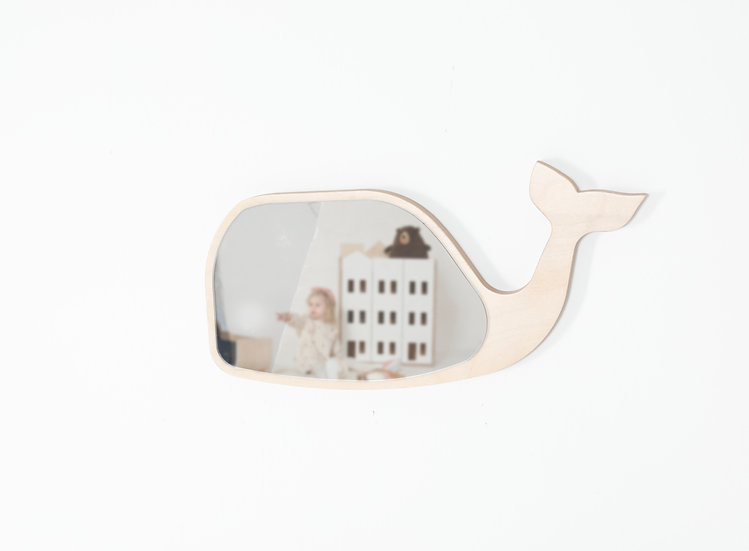 ORCA AHŞAP BALİNA AYNA