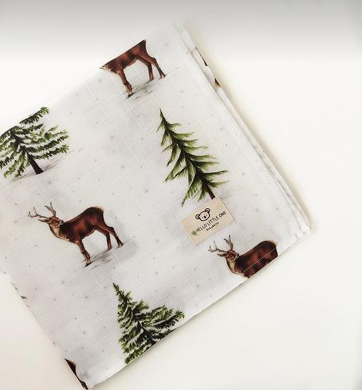 Deer Müslin Örtü