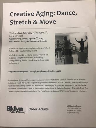 Creative Aging: Dance, Stretch & Move