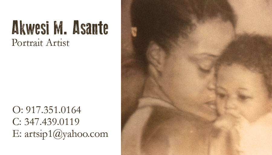 Asante Portrait Business Card