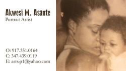Asante Portrait Business Card