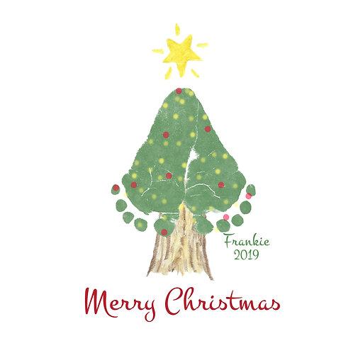 Christmas Tree Feet Wall Art
