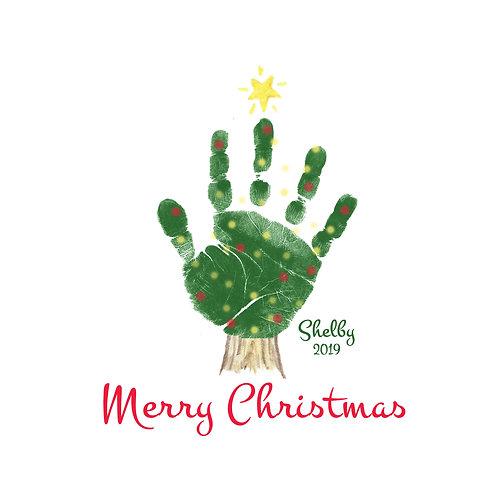 Christmas Tree Hand Wall Art