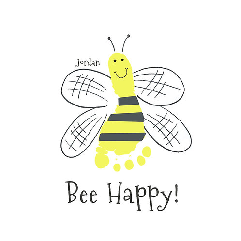 Bee Happy Wall Art