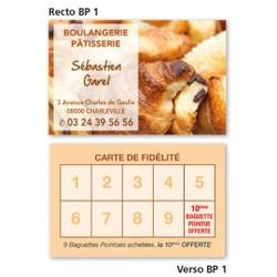 Carte commerciale Recto/Verso BP 1 à partir de 0,09 € HT (prix unitaire par 2000)