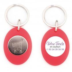Porte-clés jeton couleur à partir de 0,90 € HT (prix unitaire par 1000) coloris panachés