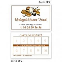 Carte commerciale Recto/Verso BP 2 à partir de 0,09 € HT (prix unitaire par 2000)