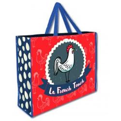 Sac shopping Ecolo modèle Coq French Touch à partir de 1,59 € HT (prix unitaire par 500)