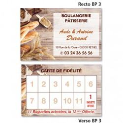 Carte commerciale Recto/Verso BP 3 à partir de 0,09 € HT (prix unitaire par 2000)